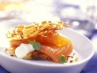 Smoked Salmon with Potato and Basil recipe