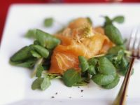 Smoked Salmon with Watercress recipe