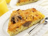 Smoked Sausage Frittata with Mushrooms recipe