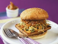 Soya Burger with Peanuts recipe