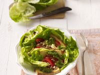 Smoked Tofu Salad with Anchovy Dressing recipe