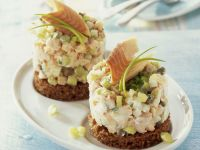 Smoked Trout and Horseradish Timbale recipe