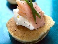 Smoked Trout Blini with Cream Cheese recipe