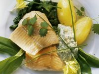 Smoked Trout Fillet with Wild Garlic recipe