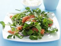Smoked Trout Salad on a Bed of Greens recipe
