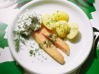 Smoked Trout with Potatoes and Herbed Cream recipe