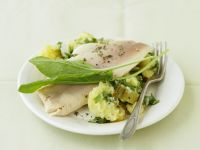 Smoked Trout with Sorrel Mashed Potatoes recipe
