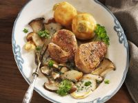 Smothered Veal Medallions with Sauteed Turnips recipe