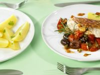 Snapper with Mixed Vegetables and Capers recipe