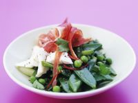Snow Pea and Goats' Cheese Salad recipe