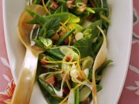 Snow Pea Salad with Mint and Bacon recipe