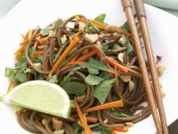 Soba Noodles with Carrots and Peanuts recipe