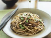 Soba Noodles with Shiitake, Soy and Sesame recipe