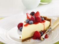Soft Cheese and Berry Gateau recipe