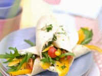 Soft Cheese and Mixed Veg Tortillas recipe
