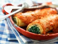 Soft Cheese and Spinach Pasta Wraps recipe