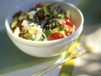 Soft Cheese and Tomato Salad recipe