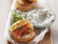 Soft Cheese Scones with Smoked Fish recipe