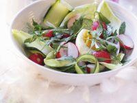 Soft Egg and Breakfast Radish Salad Bowl recipe