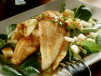 Sole Fillets with Spinach Salad recipe
