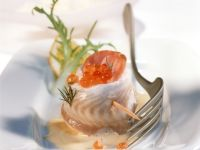 Sole Rolls with Caviar and Egg Sauce recipe