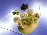 Sole Rolls with Creamy Sauce recipe