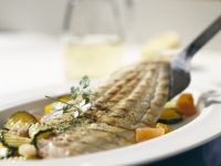 Sole with Zucchini and Tomatoes recipe