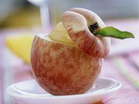 Sorbet Filled Peaches recipe