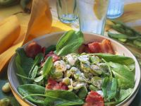 Sorrel Salad with Broad Beans and Bacon recipe