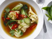 Soup with Beef Wontons recipe