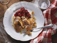 Sour Cream Schmarrn (Pancakes) with Nuts and Cherry Compote recipe