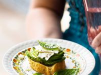 Sourdough Toast Topped with Avocado and Feta recipe