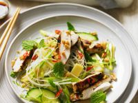South-east Asian Chicken with Rice Noodles recipe