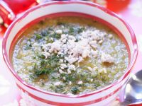 Soya and Goats' Cheese Soup recipe