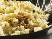 Spaetzle with Sauerkraut recipe