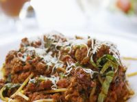 Spaghetti Bolognaise with Shaved Parmesan recipe