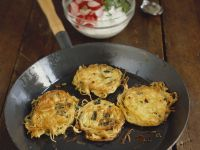 Spaghetti Nests with Cheese and Scallions recipe
