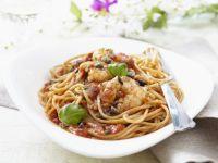 Spaghetti, Tomato Sauce and Shrimp recipe