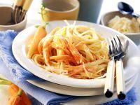 Spaghetti with Carrot Cream Sauce recipe