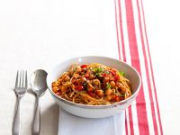 Spaghetti with Chickpea Ragu recipe