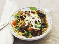 Spaghetti with Mushrooms recipe