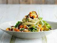 Spaghetti with Pumpkin and Pesto recipe