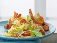 Spaghetti with Shrimp and Tomato recipe