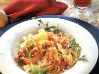 Spaghetti with Tomato Cream Sauce recipe