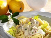 Spaghetti with Tuna Cream Sauce recipe