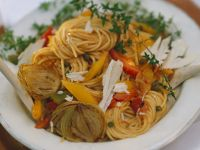 Spaghetti with Vegetable Sauce recipe