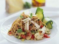 Spaghetti with Vegetable Sauce recipe