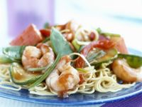 Spaghetti with Vegetables and Shrimp recipe