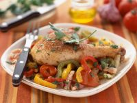 Spanish Chicken with Soft Peppers recipe