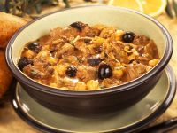 Spanish Lamb, Red Wine and Olive Stew recipe